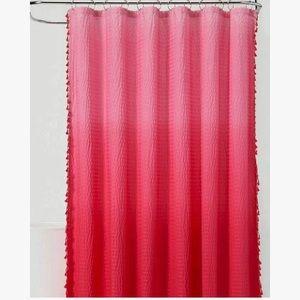 PILLOWFORT Pink Ombré Seersucker Shower Curtain